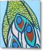Peacock II Metal Print
