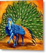 Peacock Pegasus Metal Print