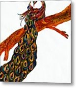 Peacock Xiii Metal Print