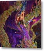 Peacok Dragon Metal Print