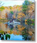Peak Autumn Reflection 6 Metal Print