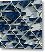 Pealing Paint Fence Abstract 1 Metal Print