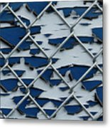 Pealing Paint Fence Abstract 2 Metal Print