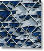Pealing Paint Fence Abstract 3 Metal Print