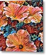 Peanies Flower Blossom Metal Print