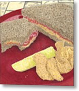 Peanut Butter And Jelly Metal Print