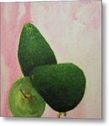Pear And Avocados Metal Print