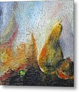 Pear And Pearl Metal Print