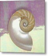 Pearl Nautilus Shell Metal Print