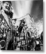 Pearly Kings And Queens Of London Hoxton Brick Lane Metal Print