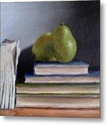 Pears And Books Metal Print