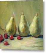 Pears And Grapes Metal Print