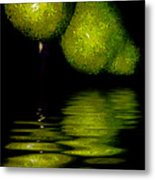Pears And Its Reflection Metal Print