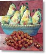 Pears In A Bowl Metal Print
