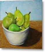 Pears In Bowl 2 Metal Print