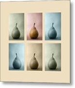 Pears Squared Metal Print