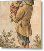 Peasant With Child Metal Print