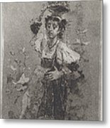 Peasant Woman Of The Campagna [ciociara] Metal Print