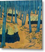 Peasants Gathered In A Sacred Wood_ Metal Print