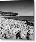 Pebble Beach At Flamborough. Metal Print