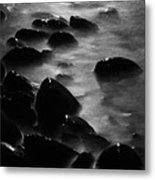 Pebble Beach By Moonlight Metal Print