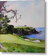 Pebble Beach Gc 5th Hole Metal Print by Scott Mulholland