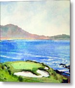 Pebble Beach Gc 7th Hole Metal Print