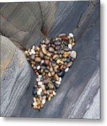 Pebble Beach Rocks 8778 Metal Print