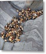 Pebble Beach Rocks 8787 Metal Print