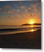 Pebble Beach Sunset Metal Print
