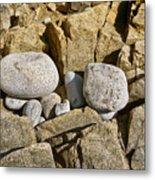 Pebble Pocket Photo Metal Print