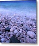 Pebble Shore Of Georgian Bay In Winter Metal Print by Oleksiy Maksymenko