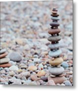 Pebble Stack II Metal Print