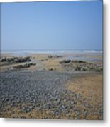 Pebble Strewn Beach Metal Print