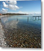 Pebbled Beach Denmark Metal Print
