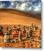 Pebblehenge Metal Print by Rob Hawkins