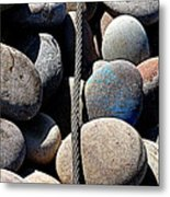 Pebbles And Cable Metal Print