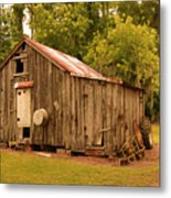 Cypress Shed Metal Print