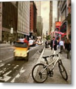Peddle It Manhattan Metal Print