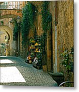 Pedestrian Walkway, Orvieto, Umbria Metal Print