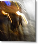Pedestrians 4  6th Ave Series  Abstract Metal Print