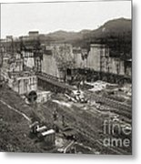 Pedro Miguel Locks, Panama Canal, 1910 Metal Print