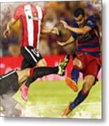 Pedro Rodriguez Kicks The Ball  Metal Print