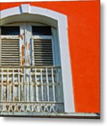 Peel An Orange Metal Print