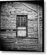 Peeling Wall And Cool Window At Fort Delaware On Film Metal Print
