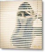 Peeping Alex Metal Print
