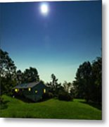 Pegasus And Moon Over The Shenandoah Valley Metal Print