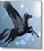 Pegasus Flight Metal Print