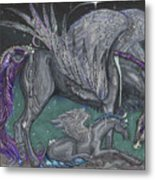 Pegasus Mare And Foal Metal Print