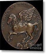 Pegasus Soaring Above Parnassus [reverse] Metal Print